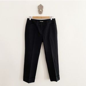 Eileen Fisher Cuff Black Ankle Pant